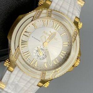 Diamond AQUASWISS Bolt L Watch White Gold Tone